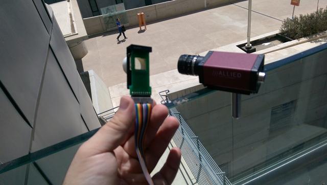 הפילטר החדשני הוא למעשה הריבוע האפור בתוך הירוק. ביישום מסחרי הוא יהיה בתוך המצלמה.