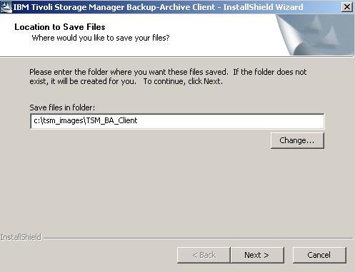 אגף מחשוב ומערכות מידע - הנחיות התקנה windows TSM Client
