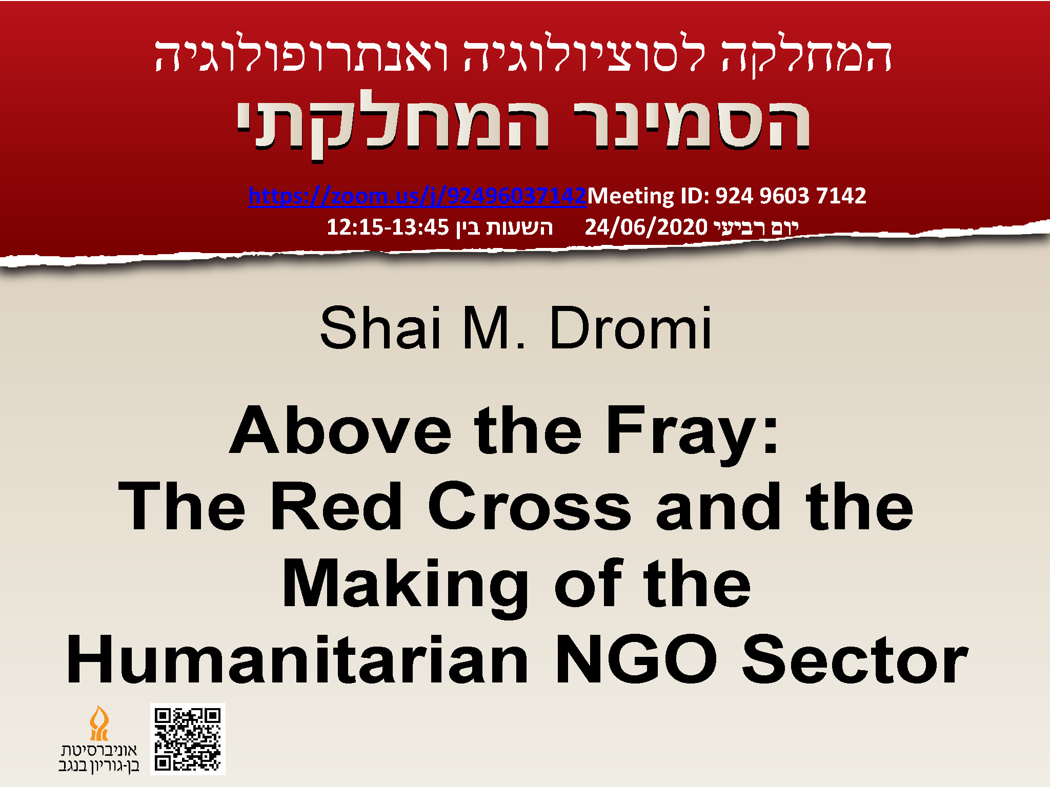 Shai M. Dromi - Above the Fray: The Red Cross and the Making of the Humanitarian NGO Sector