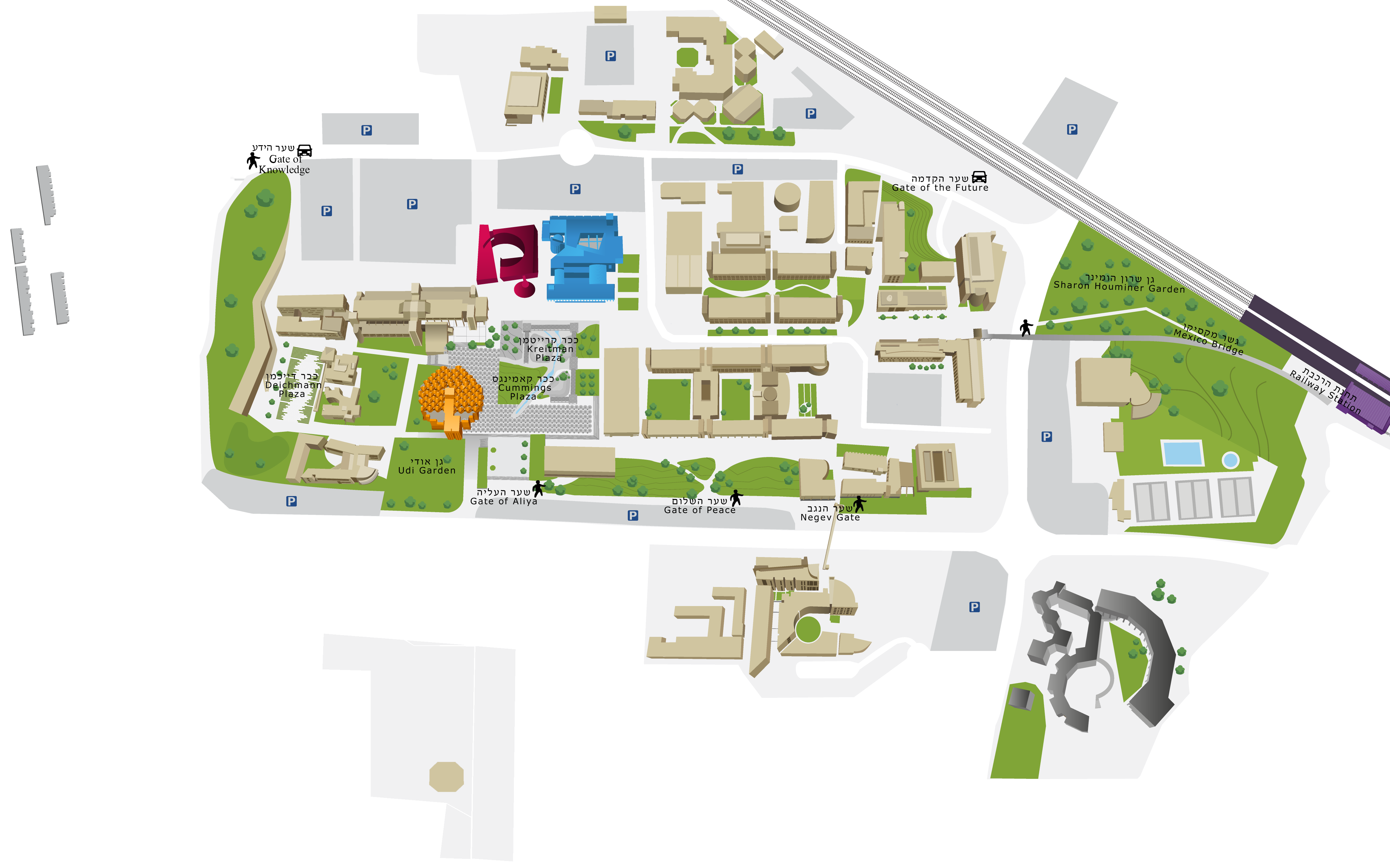 Ben Gurion University Of The Negev   Marcus Family Campus Interactive Map