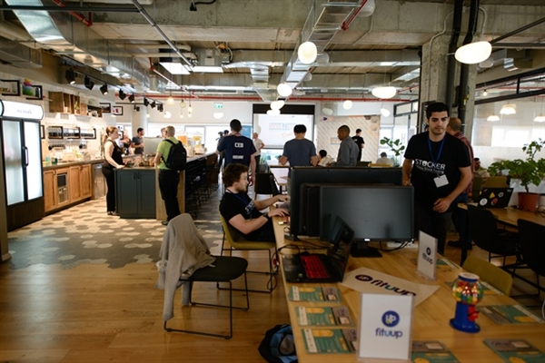 סניף WeWork בו פועל מתחם BGU Innovation Labs